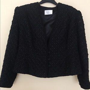 Jackets & Blazers - Lovely dressy black ribbon short jacket